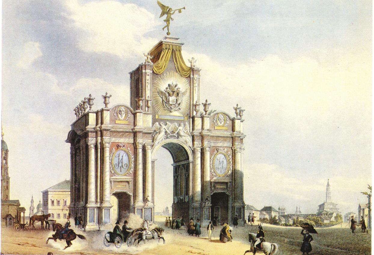 Красные ворота — от триумфальной арки до станции метро